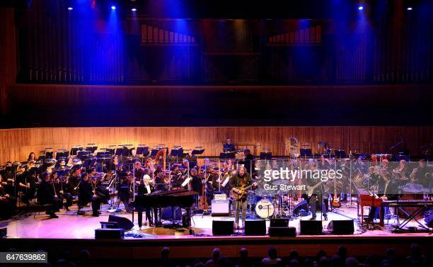 Procol Harum performs on stage at the 50th Anniversary of ' A Whiter Shade Of Pale' with The Senbla Orchestra and The English Chamber Choir at The...
