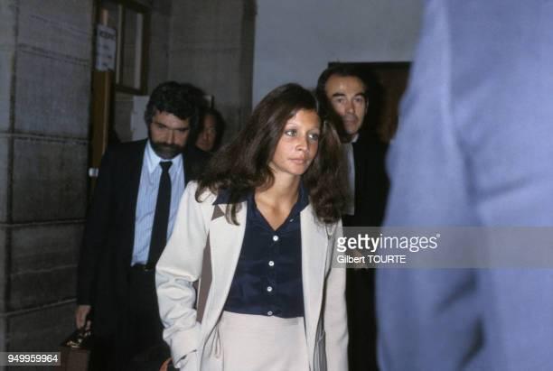 Procès de Christina Von Opel pour trafic de drogue au Palais de justice de Draguignan en mars 1979 France
