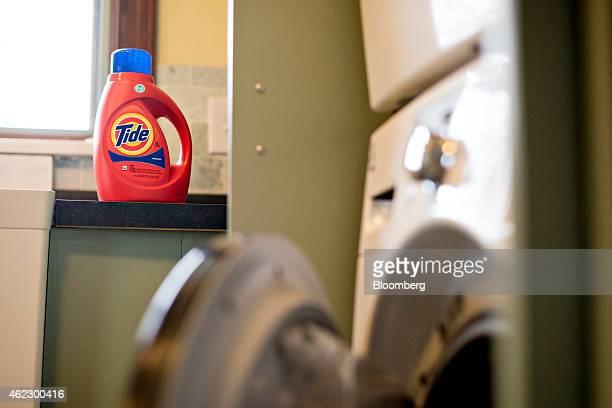 Procter Gamble Co Tide brand detergent is arranged for a photograph in Tiskilwa Illinois US on Wednesday Jan 21 2015 Procter Gamble Co is scheduled...