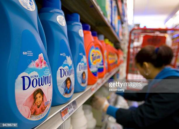 Procter Gamble Co's Downy fabric softener sits on the shelf at a supermarket in New York US on Friday Dec 11 2009 Procter Gamble Co the world's...