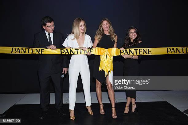 Procter Gamble Mexico Director Marcio Andreazzi Pantene ambassadresses Chiara Ferragni Gisele Bundchen and Ana Brenda Contreras attend the Pantene...