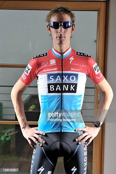 Pro-cyclist Andy Schleck posing at his home in Rue de Vigne, Mondorf le Bains, Luxembourg, June 6, 2010.