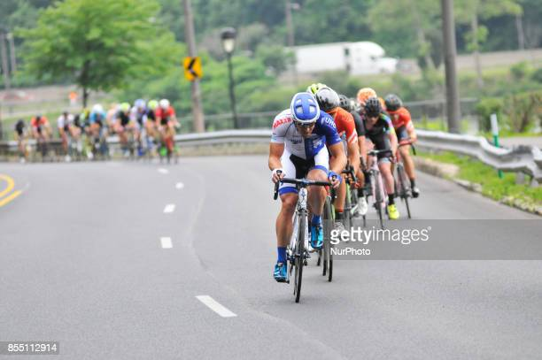 Procyclist compete at a 738miles/1187km course for the UCI Women's World Tour and 1107miles/1782km for the UCI 11 Men's America Tour during the...