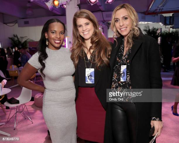 Proday.co Founder & CEO Sarah Kunst, Human Ventures Founder & CEO Heather Hartnett, and The Helm Founder & CEO Lindsey Taylor Wood attend Girlboss...