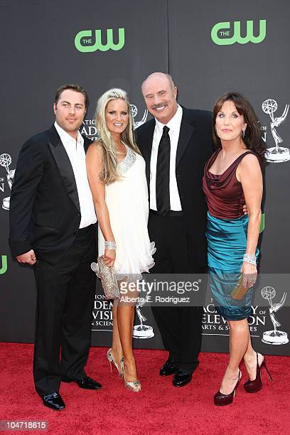 Prodcuer Jay McGraw actress Erica Dahm Dr Phil McGraw and wife Robin McGraw arrive at the 36th Annual Daytime Emmy Awards at The Orpheum Theatre on...
