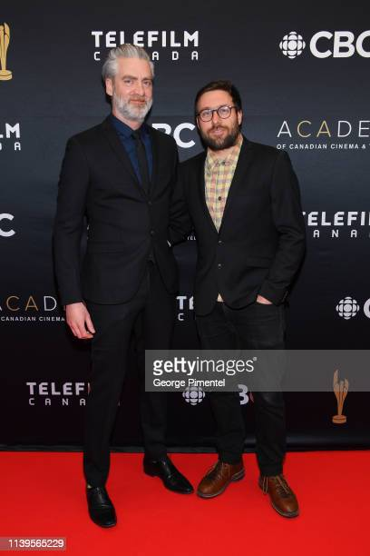 Prodcuer Sylvain Corbeil and Director Maxime Giroux attend the 2019 Canadian Screen Awards Broadcast Gala at Sony Centre for the Performing Arts on...