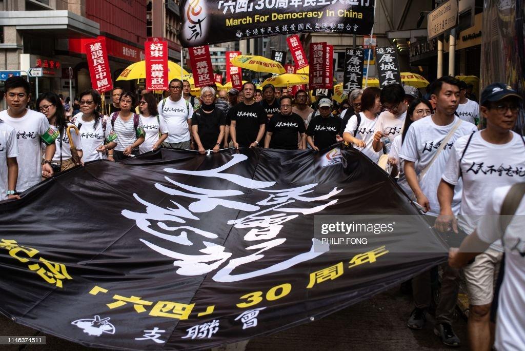 HONG KONG-CHINA-DEMOCRACY-POLITICS-PROTEST-TIANANMEN : News Photo