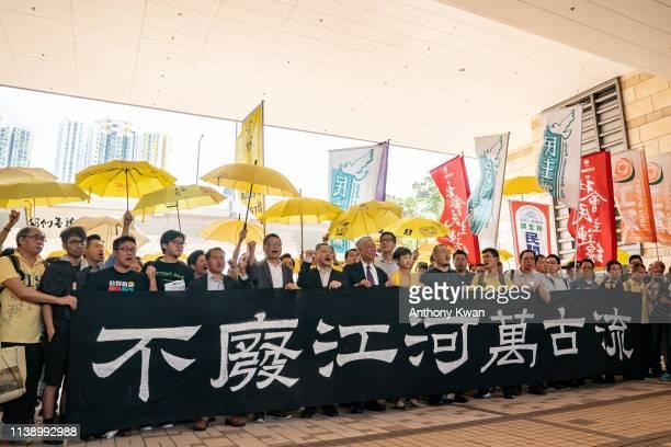 Pro-democracy activists Chung Yiu-wa, Cheung Sau-yin, Lee Wing-tat, Chu Yiu-ming, Benny Tai, Chan Kin-man, Tanya Chan, Shiu Ka-chun and Raphael Wong...