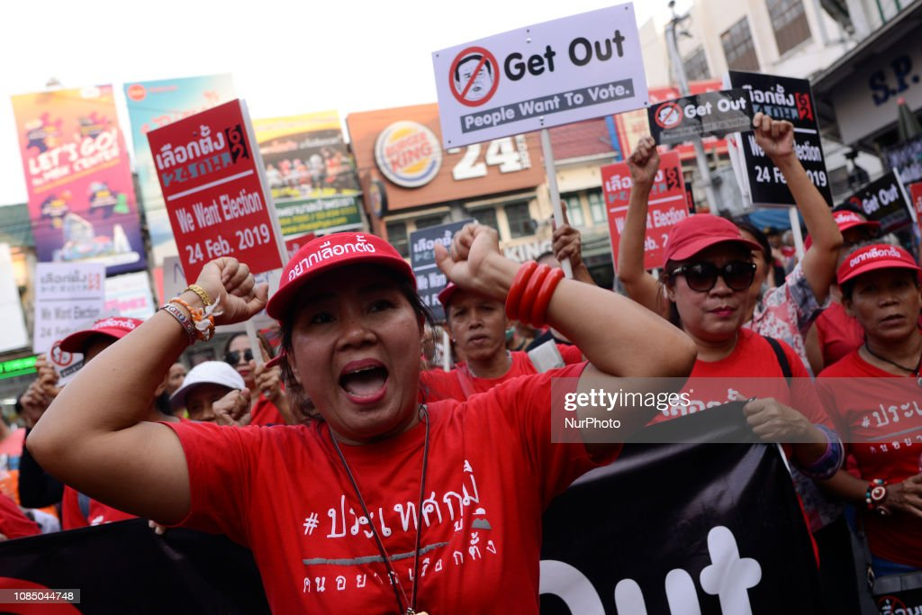 Protest Against The General Election Postponement In Thailand : News Photo