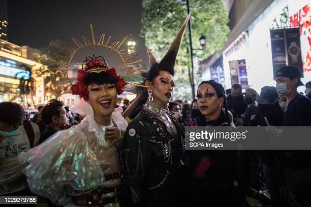Pro-democracy drag queens protesters came to support the LGBTQ community during an anti-government demonstration in the Thai Capital. Thousands of...