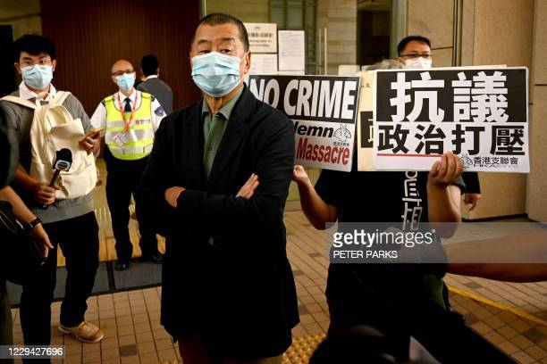 Pro-democracy media tycoon Jimmy Lai , facing charges of inciting others to participate in an unauthorised assembly commemorating the 1989 Tiananmen...