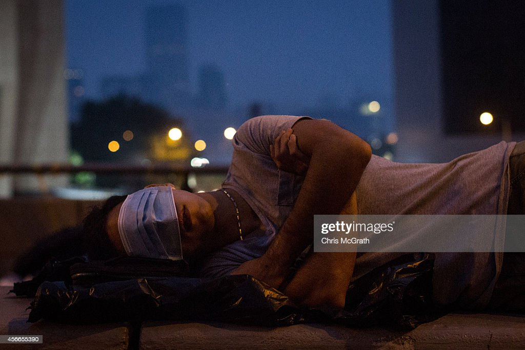 Protestors Take A Rest As The Pro Democracy Sit-In Goes On : News Photo