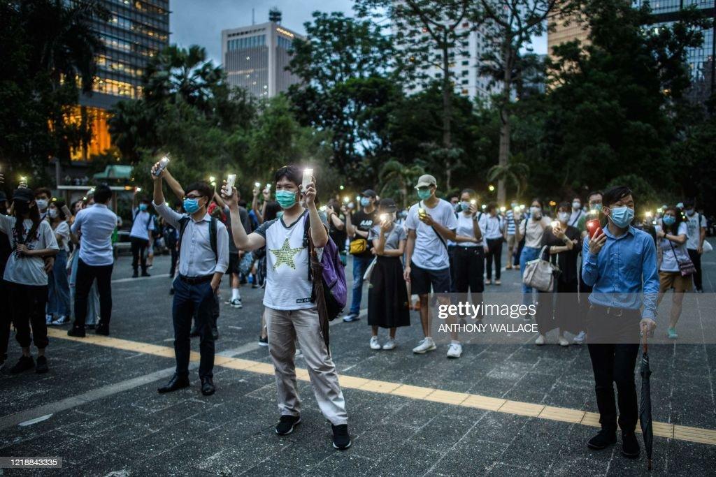 HONG KONG-CHINA-POLITICS-UNREST-ANNIVERSARY : News Photo