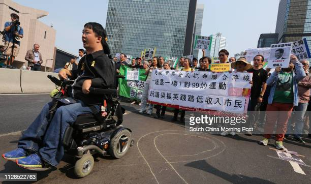 Pro-democracy protesters march to Government House in protest against Chief Executive Leung Chun-ying. 22OCT14