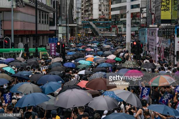 Prodemocracy supporters take part in an antigovernment rally on May 24 2020 in Hong Kong China Chinese Premier Li Keqiang said on Friday during the...