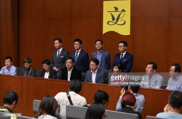 Prodemocratic lawmakers Raymond Chan Chichuen Tanya Chan Sukchong Helena Wong Pikwan James To Kunsun Charles Mok Claudia Mo Manching Edward Yiu...