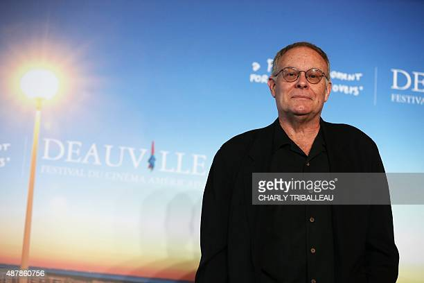 Prodicer Eric Overmyer poses during a photocall on September 12, 2015 in the French northwestern sea resort of Deauville, on the sideline of the 41th...