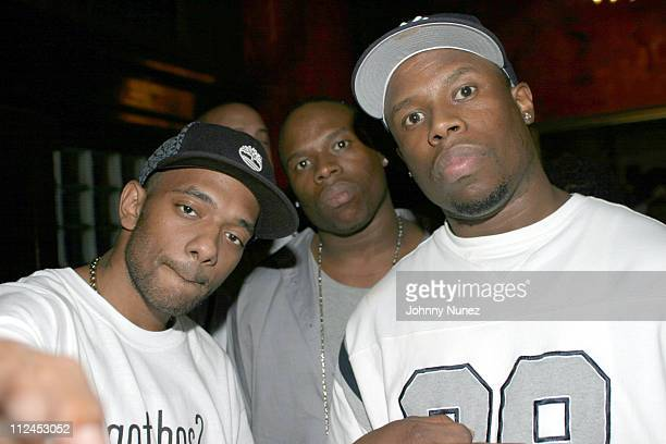 Prodigy of Mobb Deep and DJ Twinz during John Monopoloy of Violator Management and Barkue Tubman of Ms Boss Lady Entertainment Host New York City...