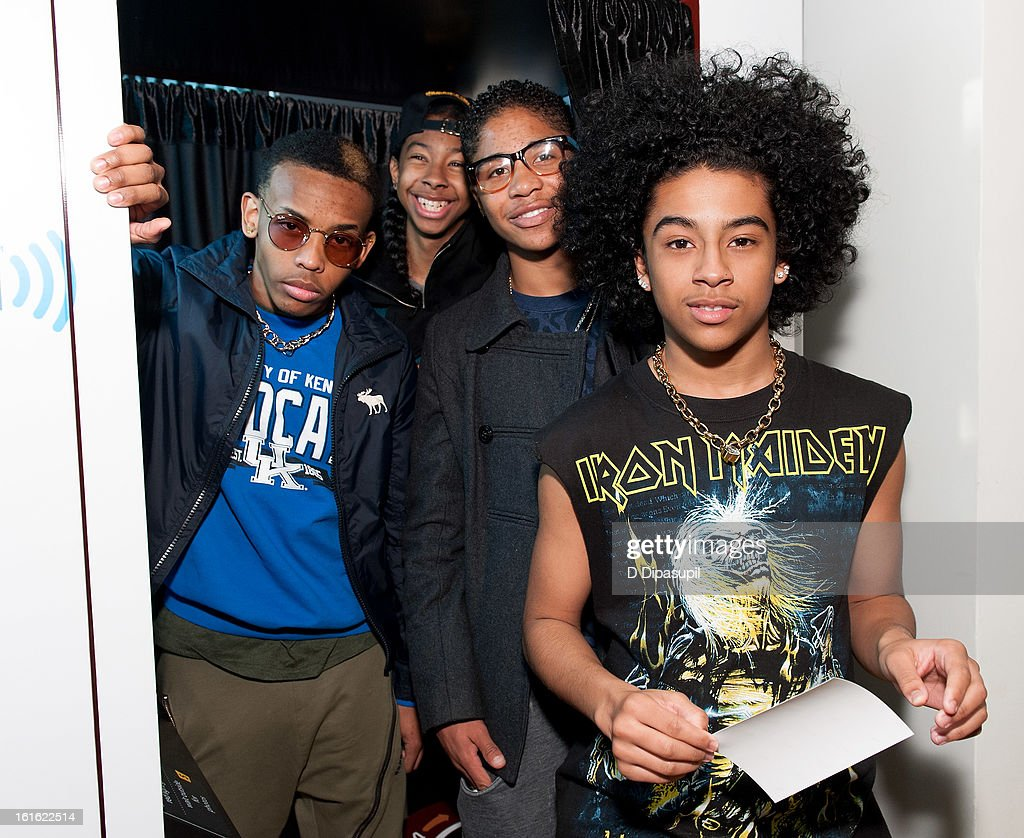 Prodigy, Ray Ray, Roc Royal, and Princeton of Mindless Behavior visit SiriusXM Studios on February 13, 2013 in New York City.