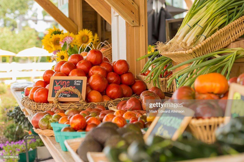 Produce at farmers market : Foto stock