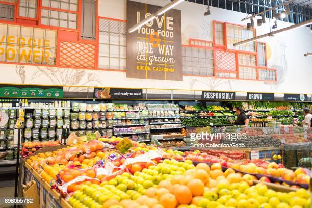 Produce is on display at the Whole Foods Market grocery store in Dublin California June 16 2017