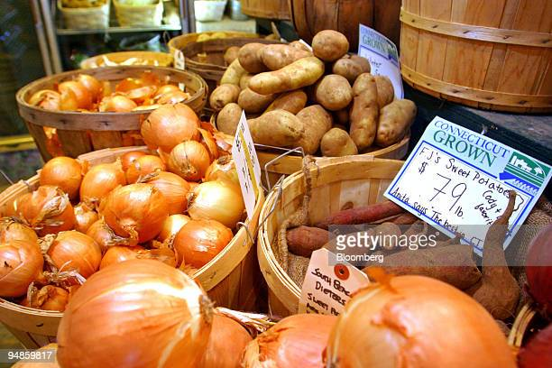 Produce lines the tables at the Smith Acres in Niantic Connecticut on Tuesday November 16 in Flanders Connecticut Prices paid to US producers rose 17...