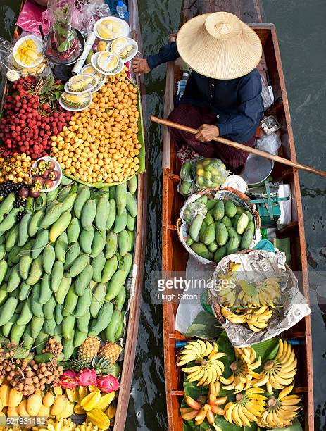 Produce sellers at Bangkok Floating Market