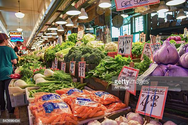 Produce Stand at Pikes Place Market in Seattle
