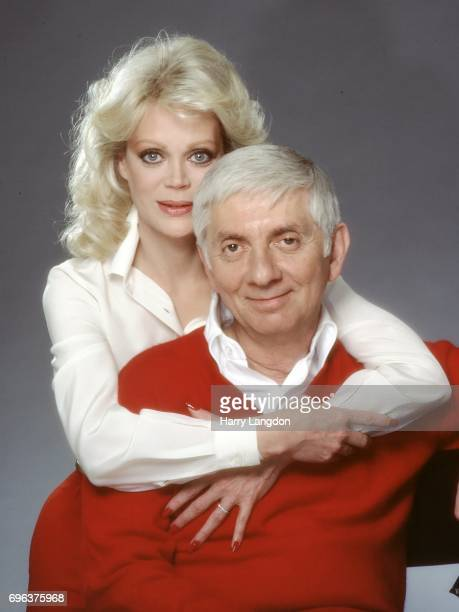 V Producer Aaron Spelling and Candy Spelling pose for a portrait in 1993 in Los Angeles California