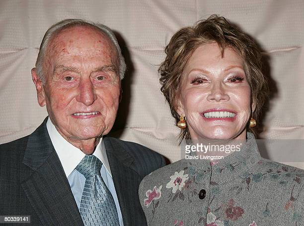 Producer AC Lyles and actress Mary Tyler Moore attend the Pacific Pioneer Broadcasters luncheon honoring Ed Asner at the Sportsmen's Lodge on March...
