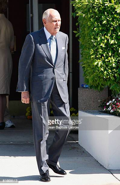 Producer AC Lyles attends the Cyd Charisse's Funeral Service at Hillside Memorial Park on June 22 2008 in Culver CityCalifornia