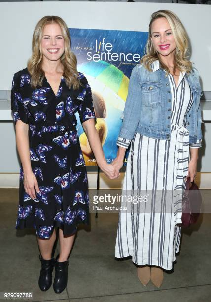 Producer / Actress Erin Cardillo and Actress Alyshia Ochse attend the screening for the CW's Life Sentence at The Downtown Independent on March 7...