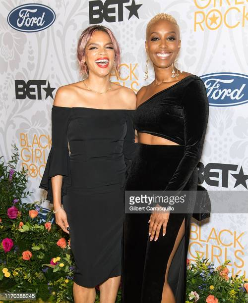 Producer, actress, writer Shamikah Martinez and comedian Franchesca Ramsey attends 2019 Black Girls Rock! at NJ Performing Arts Center on August 25,...