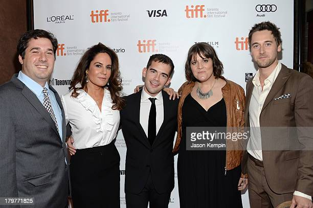 Producer Adam Gibbs, co-writer/producer Emily Wachtel, executive producer Peer Pedersen, director Megan Griffiths and actor Ryan Eggold attend the...