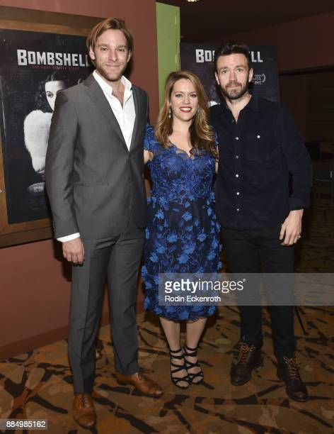 Producer Adam Haggiag director Alexandra Dean and music supervisor Ray Massa attend the 'Bombshell The Hedy Lamarr Story' Los Angeles premiere at AMC...
