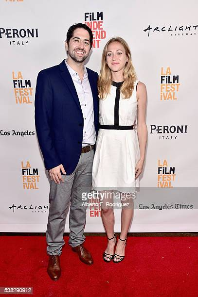 Producer Adam Saunders and director Eve Marson attend the premiere of 'Dr Feelgood' during the 2016 Los Angeles Film Festival at Arclight Cinemas...