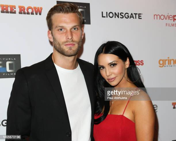 Producer Adam Spott and Reality TV Personality Scheana Marie attend the Los Angeles premiere of The Row at Sunset 5 on July 25 2018 in West Hollywood...