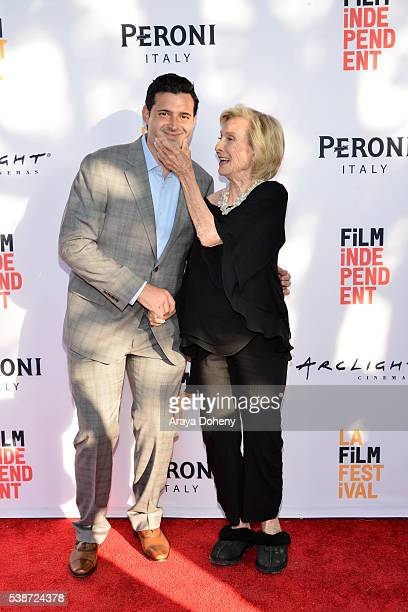 Producer Adam Tenenbaum and actress Cloris Leachman attend the premiere of So B It during the 2016 Los Angeles Film Festival at Arclight Cinemas...