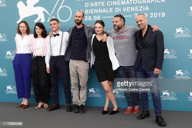 Producer Agnieszka Wasiak Barbara Ronchi Claudio Segaluscio director Carlo Sironi Sandra Drzymalska producer Giovanni Pompili and guest attend the...