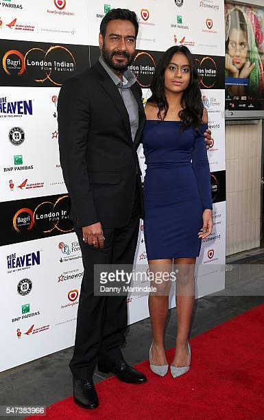 Producer Ajay Devgn and daugter Nysa Devgn attends the London Indian film festival opening night at Cineworld Cinemas on July 14 2016 in London...