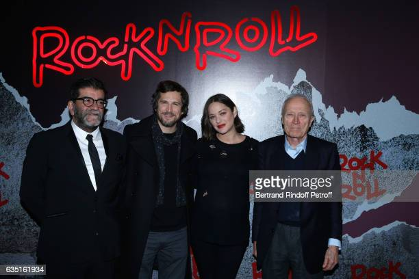 Producer Alain Attal Actor and Director of the movie Guillaume Canet actress of the movie Marion Cotillard and Producer Jerome Seydoux attend the...