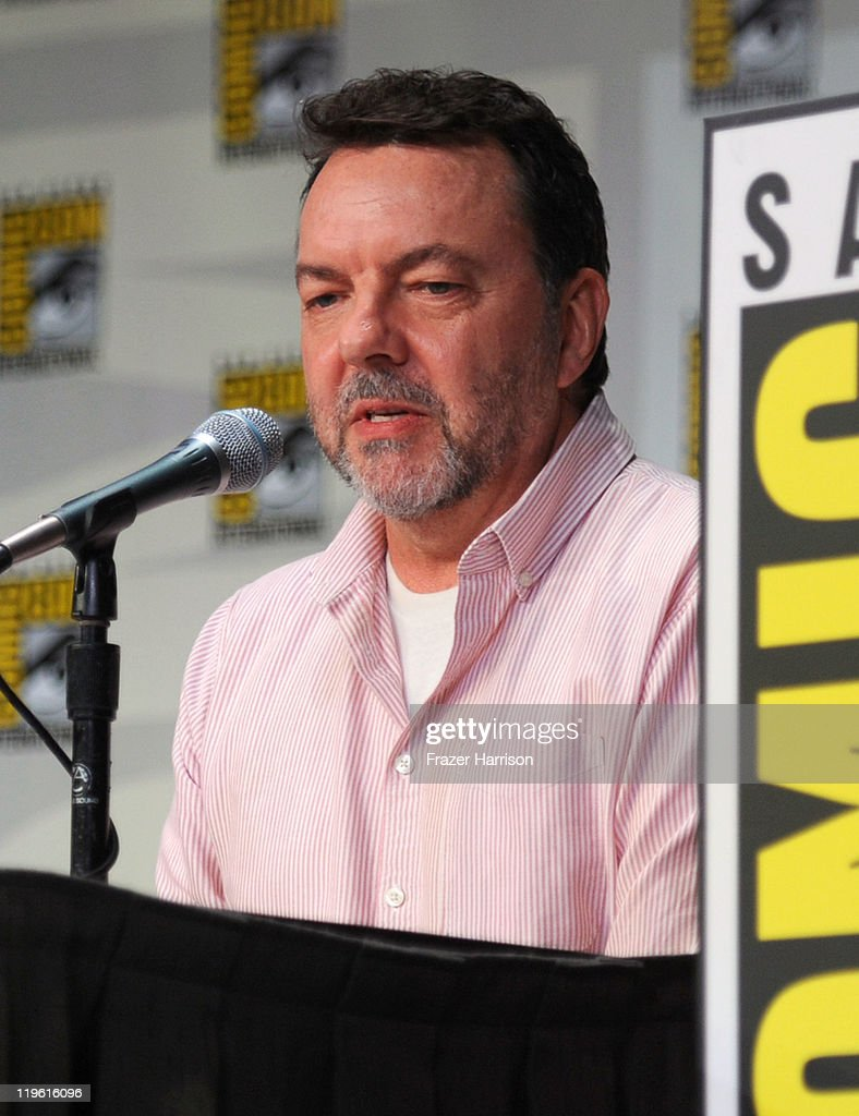 Producer Alan Ball speaks at HBO's 'True Blood' Panel during Comic-Con 2011 and the San Diego Convention Center on July 22, 2011 in San Diego, California.