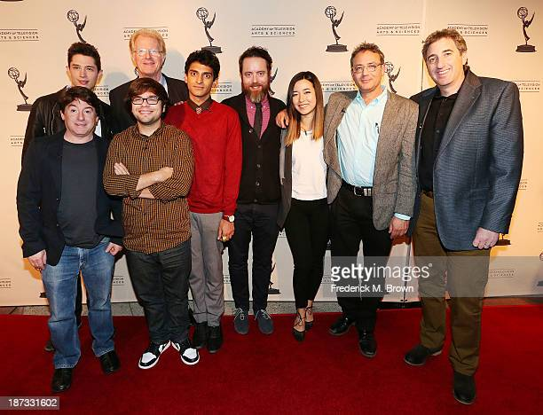 Producer Alan Cohen actors Joel Dinicol Charlie Saxton Ed Begley Jr Karan Soni Jonathan C Daly and actress Maya Erkine executive producer Michael...