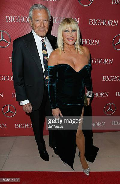 Producer Alan Hamel and actress Suzanne Somers attend the 27th Annual Palm Springs International Film Festival Awards Gala at Palm Springs Convention...