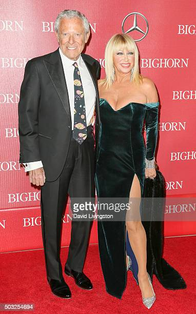 Producer Alan Hamel and actress Suzanne Somers attend the 27th Annual Palm Springs International Film Festival Awards Gala at the Palm Springs...