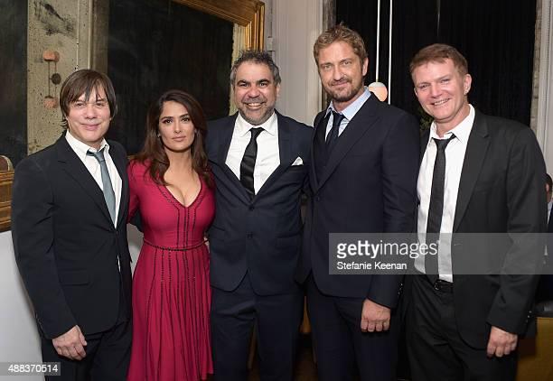 Producer Alan Siegel actress Salma Hayek director Wayne Blair actor Gerard Butler and producer Les Weldon attend the Septembers of Shiraz TIFF Party...