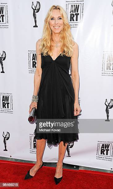 Producer Alana Stewart arrives at the American Women in Radio Television Southern California 2010 Genii Awards at Skirball Cultural Center on April...
