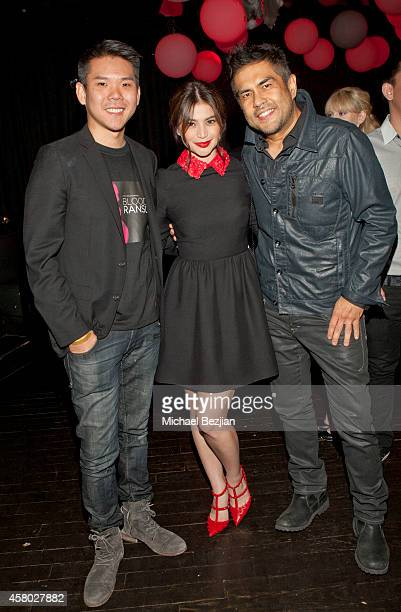 "Producer Albert Chang, actress Anne Curtis and director Francis dela Torre attends the Los Angeles Premiere Of ""Blood Ransom"" on October 28, 2014 in..."
