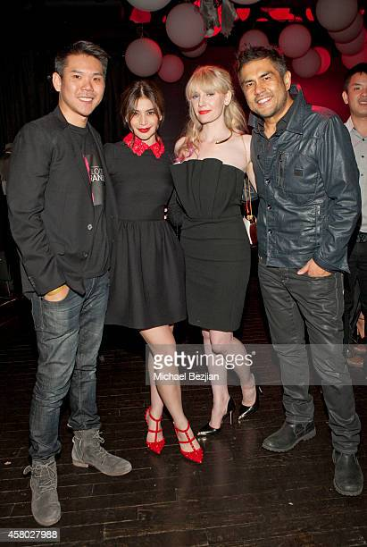 Producer Albert Chang actress Anne Curtis director of photography Jasmin Kuhn and director Francis dela Torre attend the Los Angeles Premiere Of...