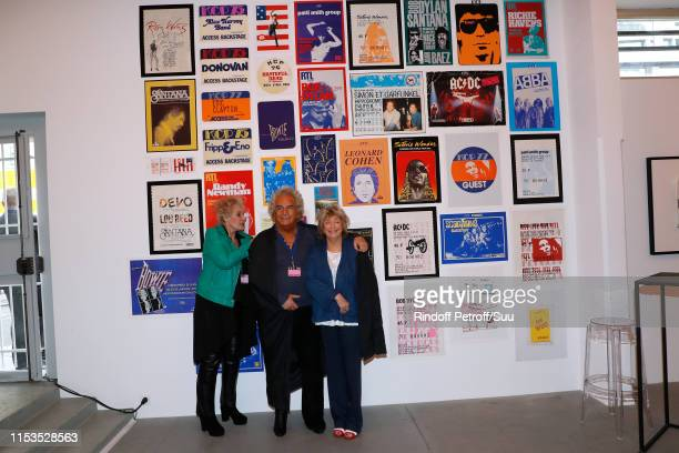Producer Albert Koski and his wife Director Daniele Thompson attend Albert Koski exposes its Rock&Roll Posters Collection at Galerie Laurent Godin on...